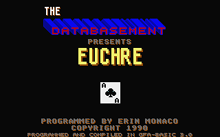 Euchre atari screenshot